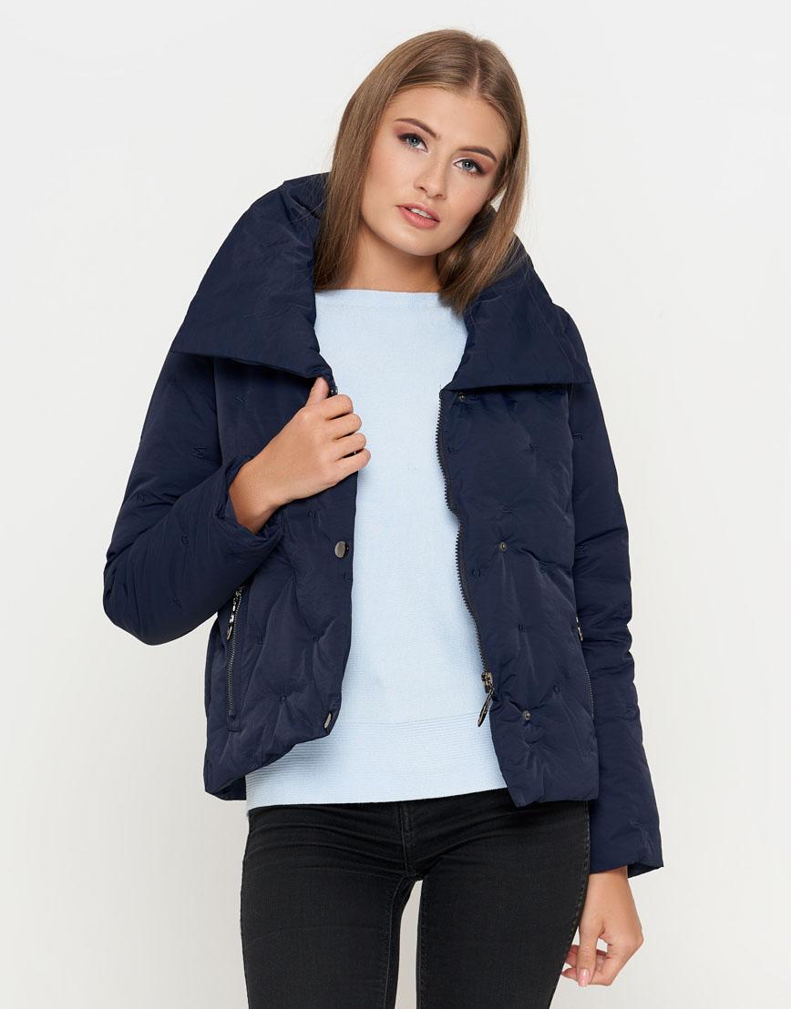 Синяя женская куртка короткая модель 25062 фото 1