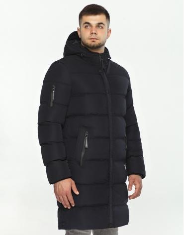 Мужская черная куртка стильная модель 52045