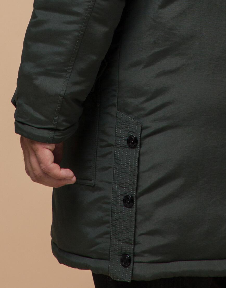 Зимняя парка мужская цвета хаки модель 96120 оптом фото 5