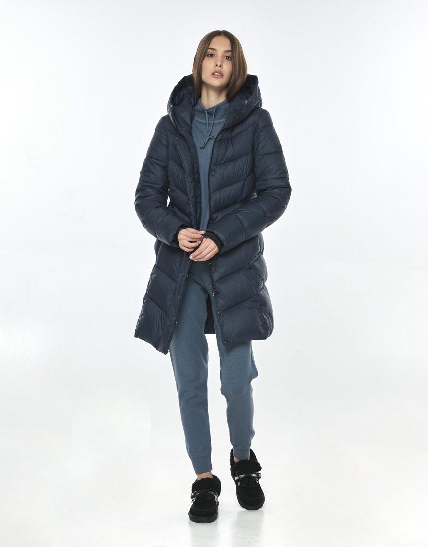 Куртка брендовая синяя женская Vivacana осенне-весенняя 7821/21 фото 1