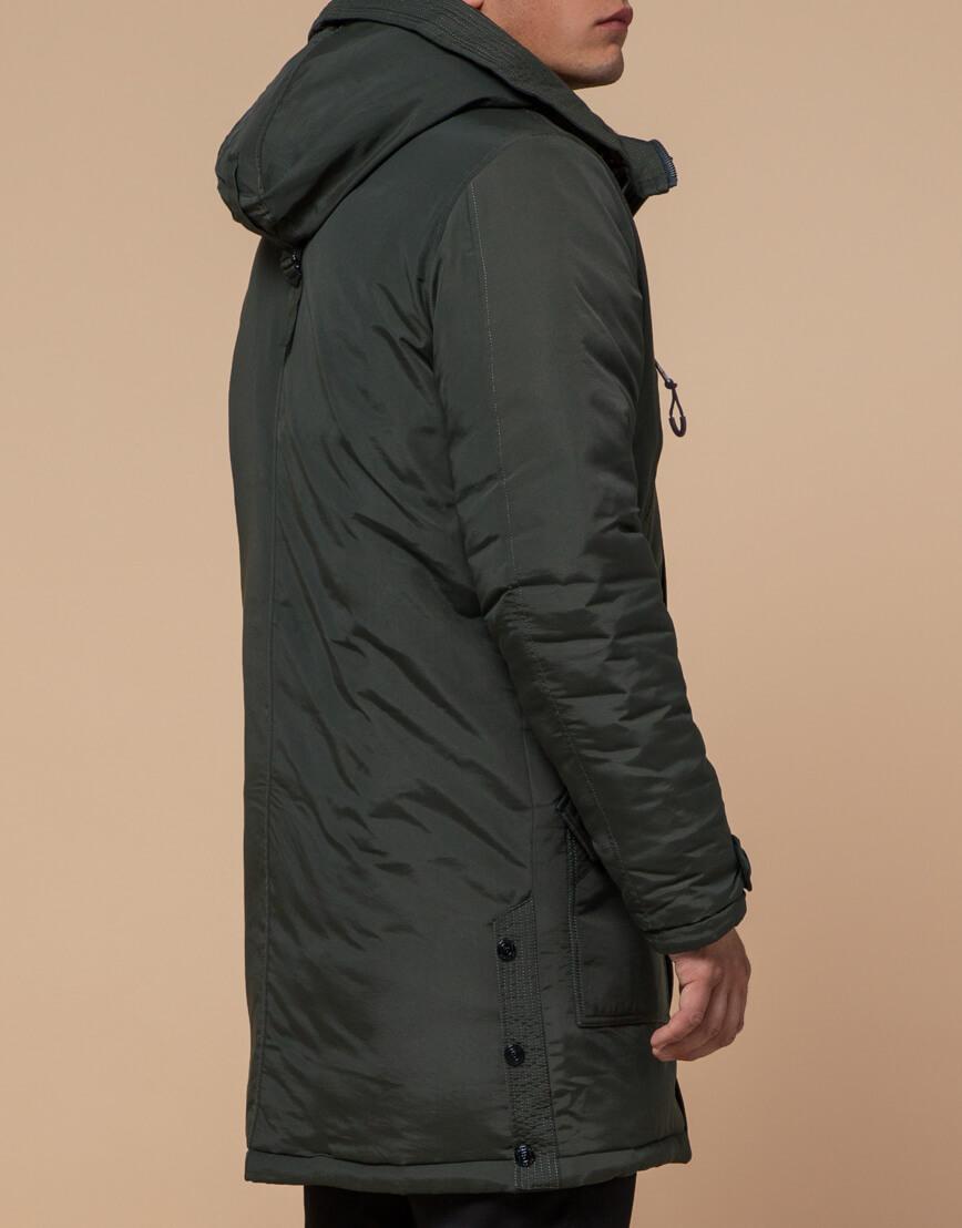 Зимняя парка мужская цвета хаки модель 96120 оптом фото 3