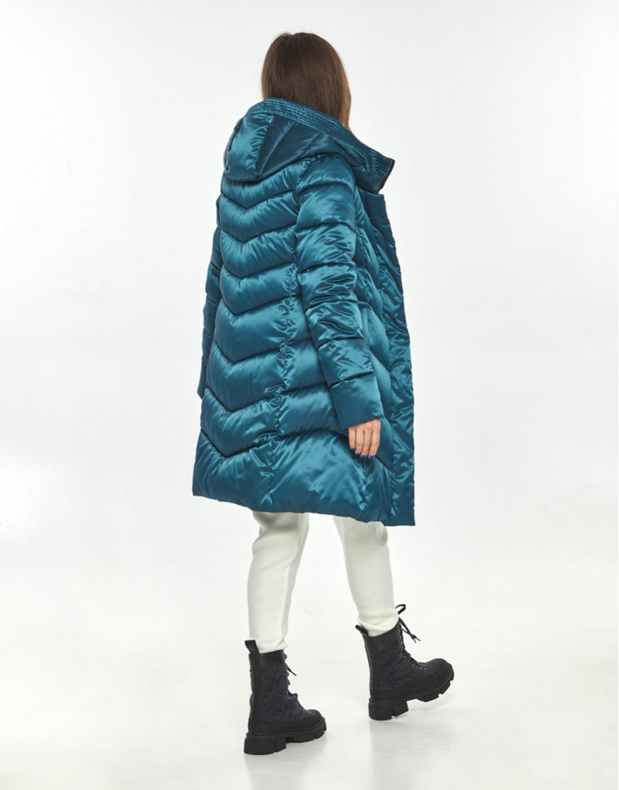 Куртка женская Ajento модная аквамариновая 22857 фото 3