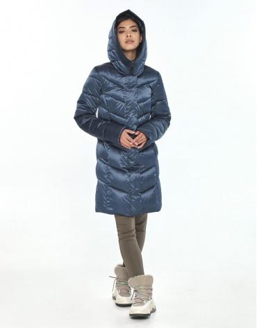 Комфортная женская куртка Moc синяя зимняя M6540 фото 1