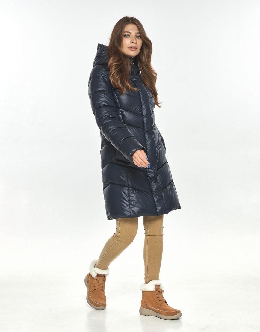 Люксовая куртка женская Ajento синяя 22857 фото 1