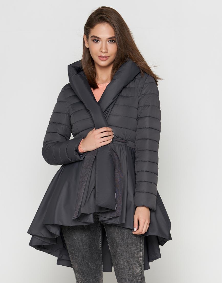 Серая женская куртка легкая модель 25755 фото 1