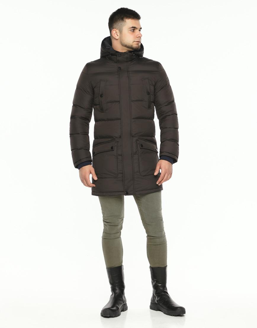 Практичная теплая куртка цвет кофе модель 32045 фото 2
