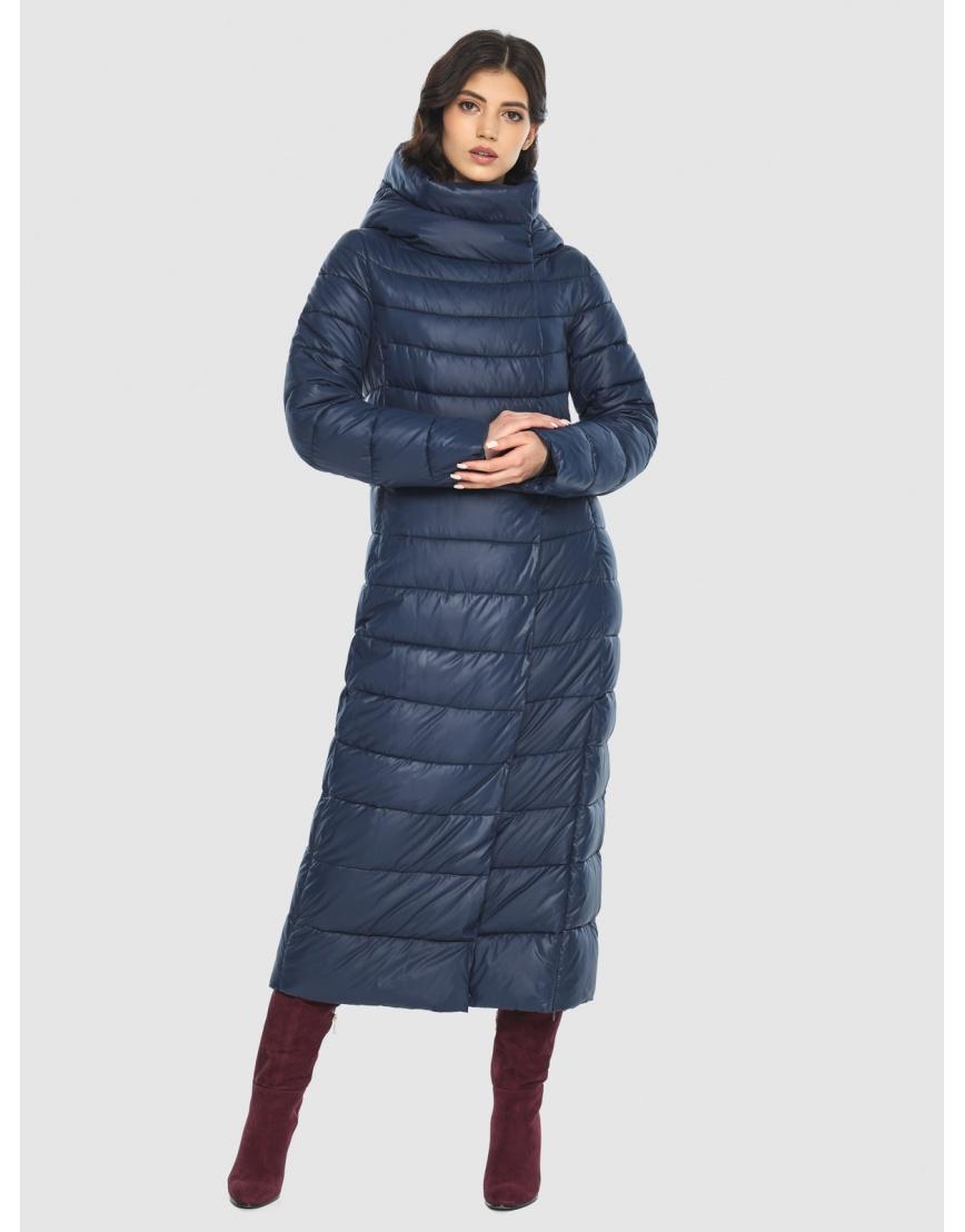 Синяя длинная курточка женская Vivacana 8320/21 фото 2