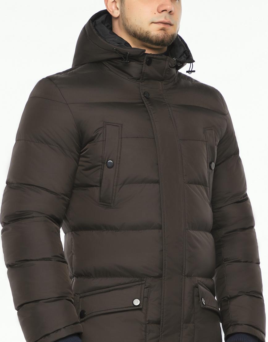 Практичная теплая куртка цвет кофе модель 32045 фото 5