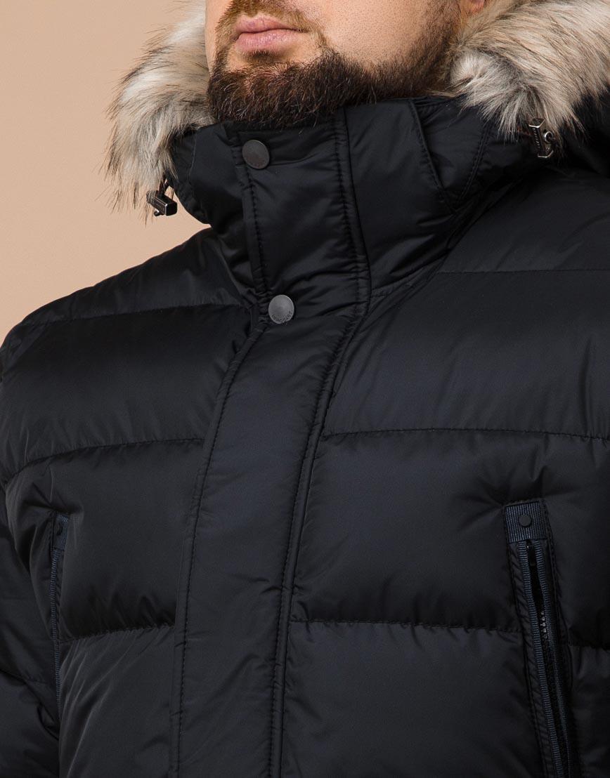 Куртка черная большого размера модная модель 37762 фото 4