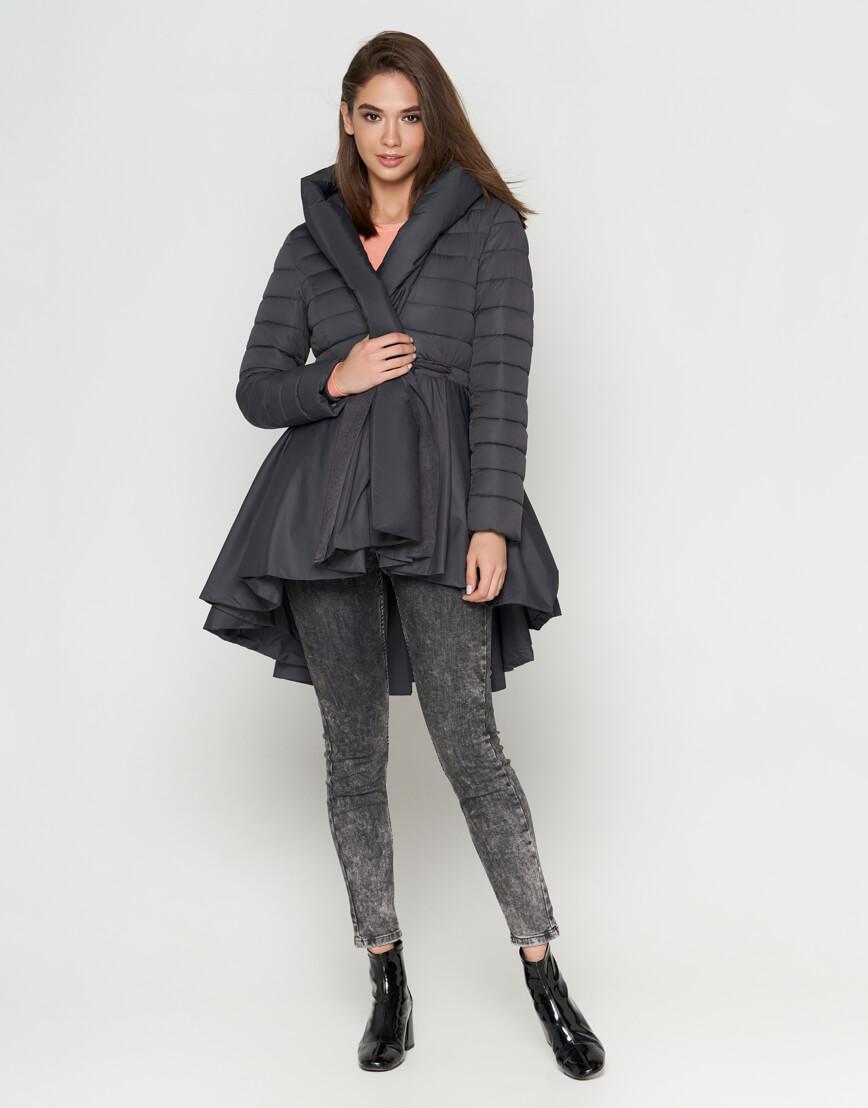 Серая женская куртка легкая модель 25755 фото 2