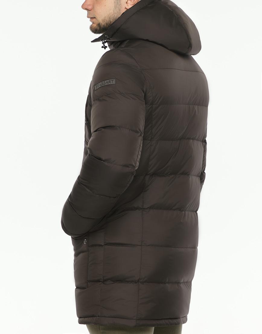 Практичная теплая куртка цвет кофе модель 32045 фото 6
