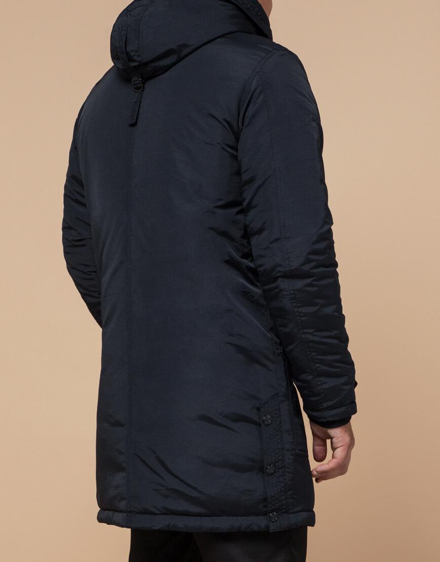 Мужская черно-синяя парка на зиму модель 96120 оптом