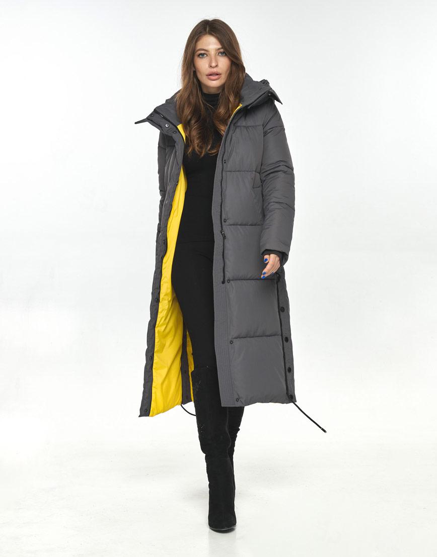 Серая куртка большого размера женская Ajento комфортная 23160 фото 2
