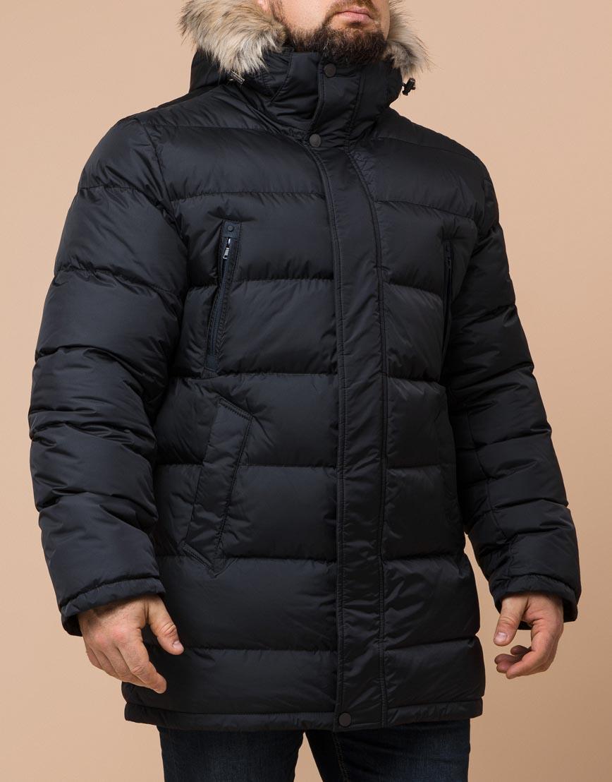 Куртка черная большого размера модная модель 37762 фото 2
