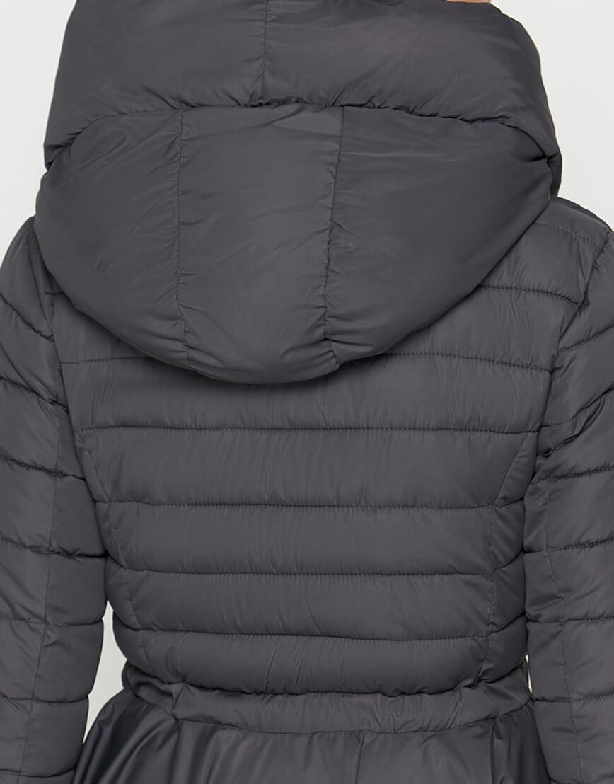 Серая женская куртка легкая модель 25755 фото 5