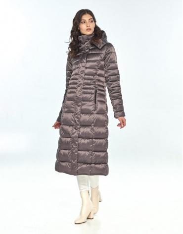 Зимняя капучиновая куртка женская Vivacana длинная 8140/21 фото 1