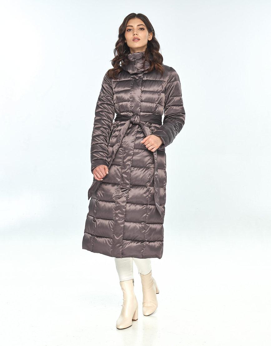 Зимняя капучиновая куртка женская Vivacana длинная 8140/21 фото 2