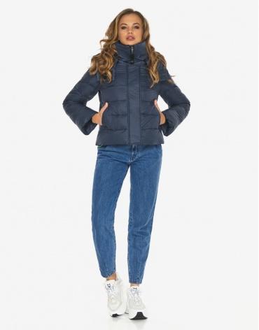 Куртка пуховик Youth темно-синий брендовый молодежный модель 21470 фото 1