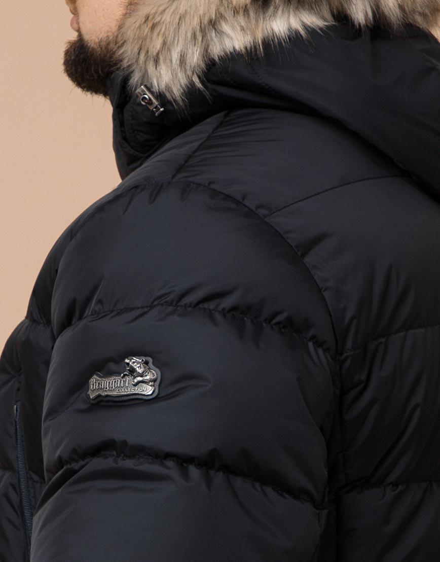 Куртка черная большого размера модная модель 37762 фото 6