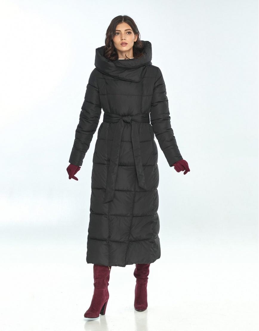 Чёрная практичная куртка большого размера женская Vivacana 8706/21 фото 2