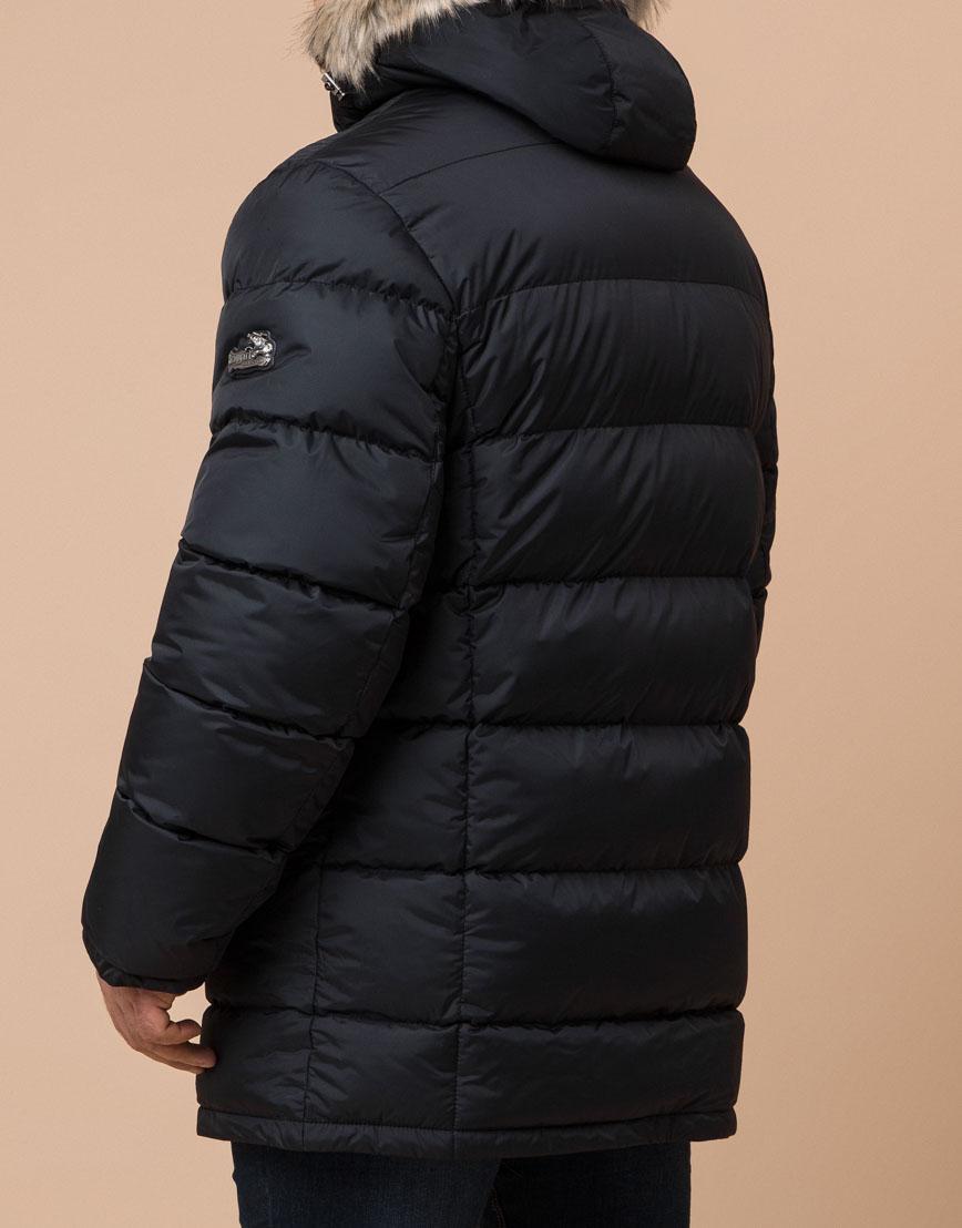 Куртка черная большого размера модная модель 37762 фото 3