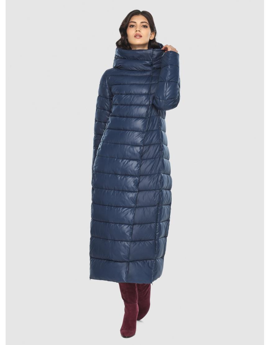 Синяя длинная курточка женская Vivacana 8320/21 фото 5