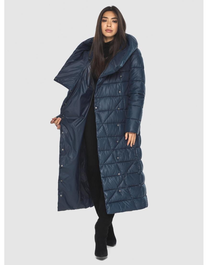 Удобная куртка женская синяя Moc M6715 фото 2