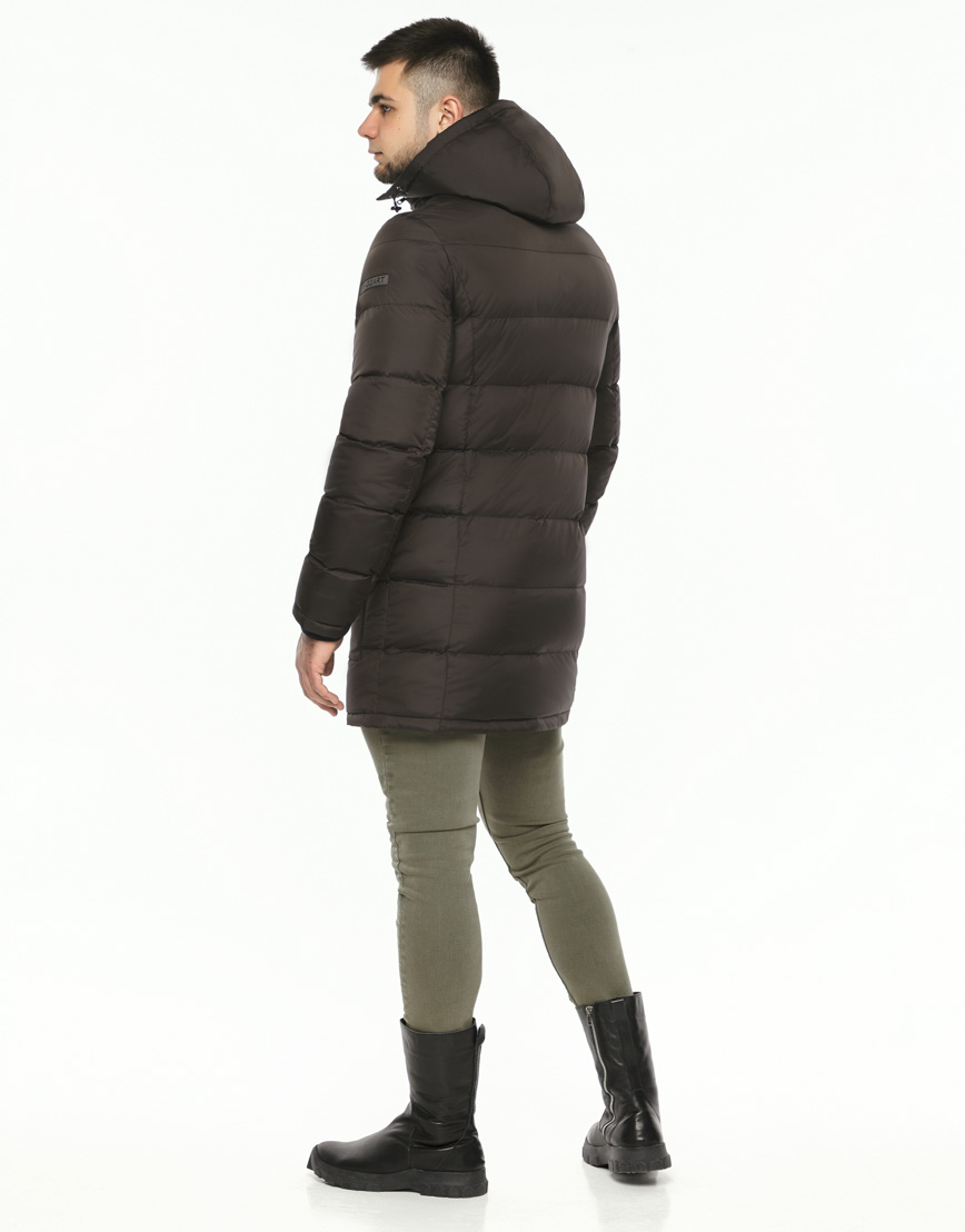 Практичная теплая куртка цвет кофе модель 32045 фото 4