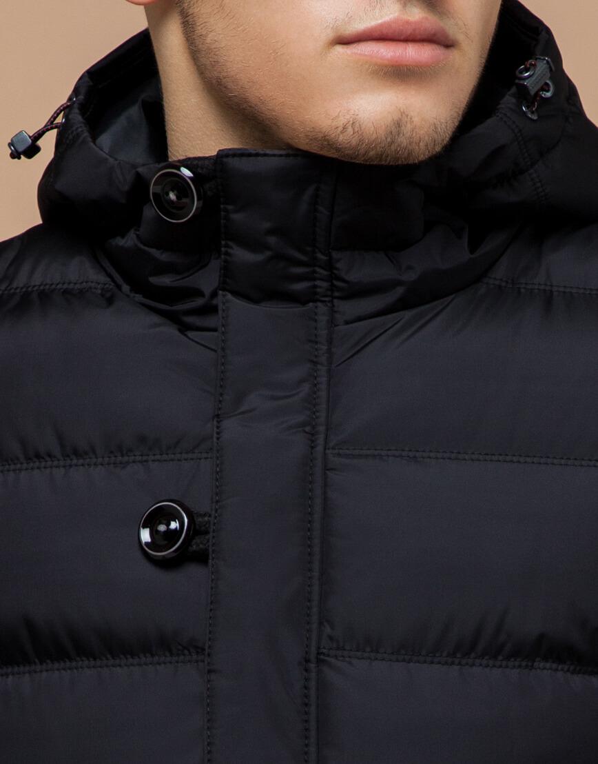 Черная куртка с капюшоном комфортная модель 20180 фото 4