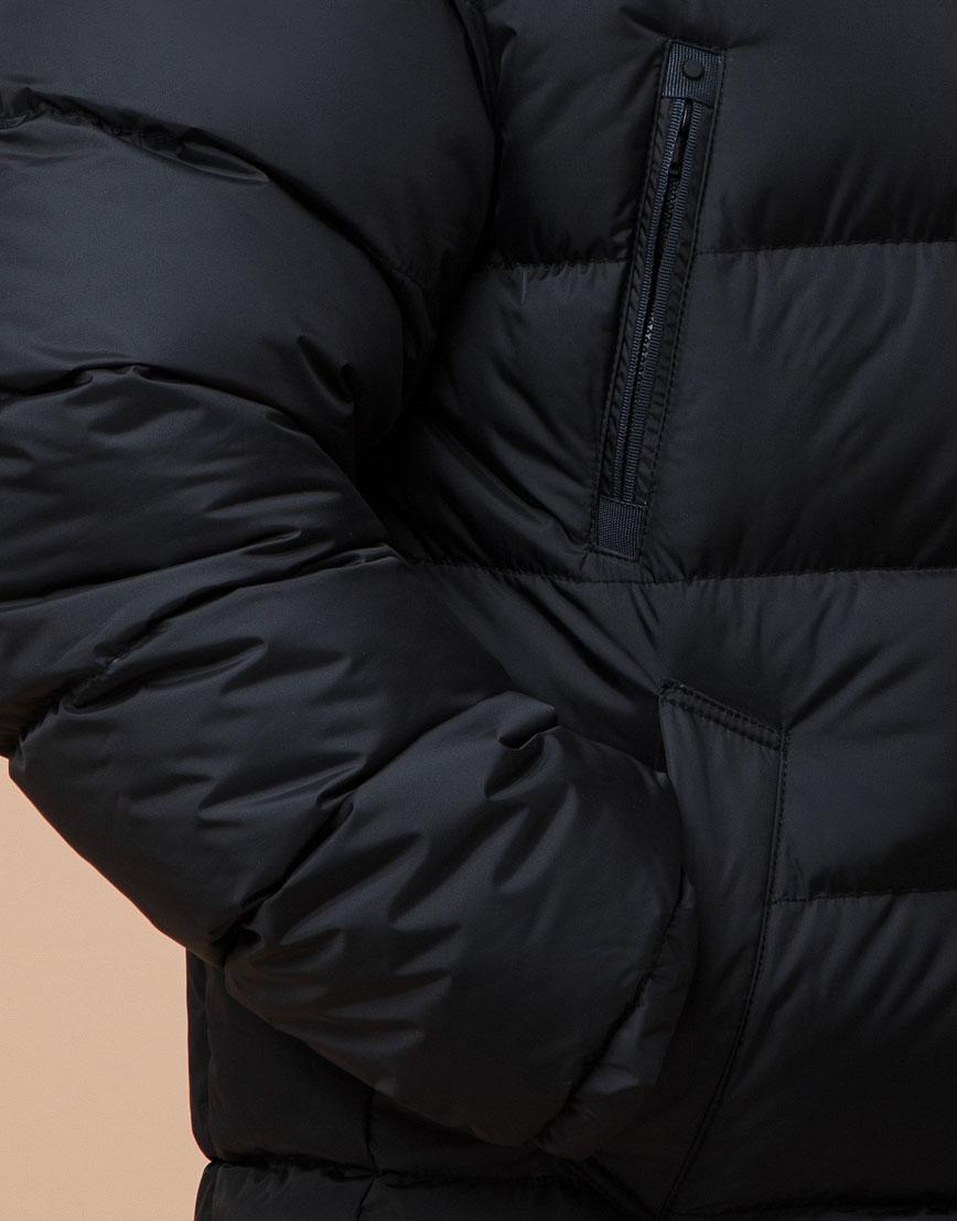 Куртка черная большого размера модная модель 37762 фото 5