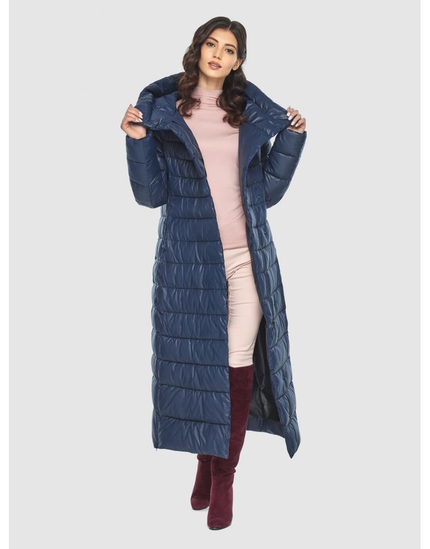 Синяя длинная курточка женская Vivacana 8320/21 фото 6