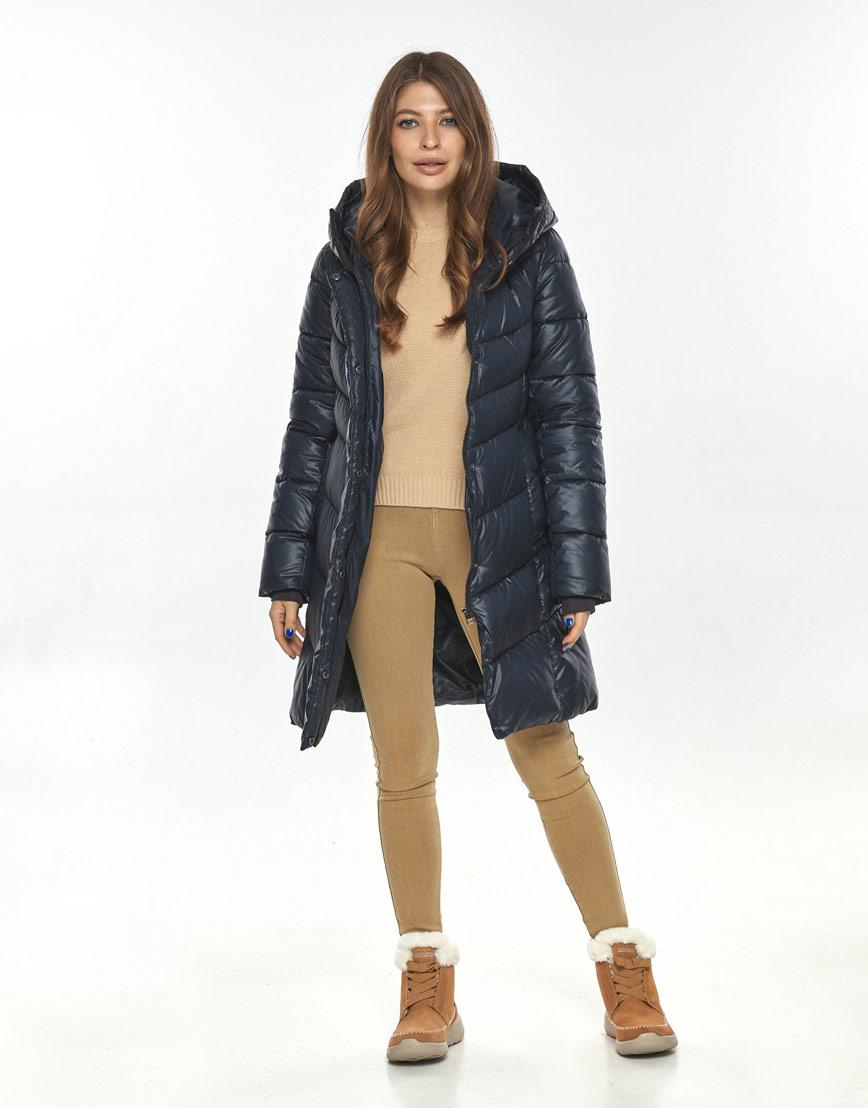 Люксовая куртка женская Ajento синяя 22857 фото 2