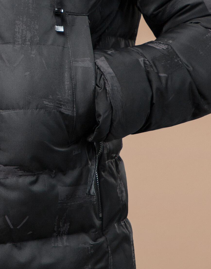 Мужская куртка зимняя дизайнерская серая модель 25190