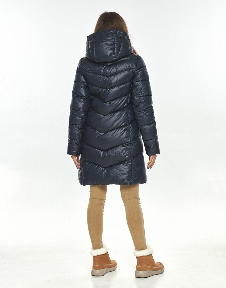 Люксовая куртка женская Ajento синяя 22857 фото 3