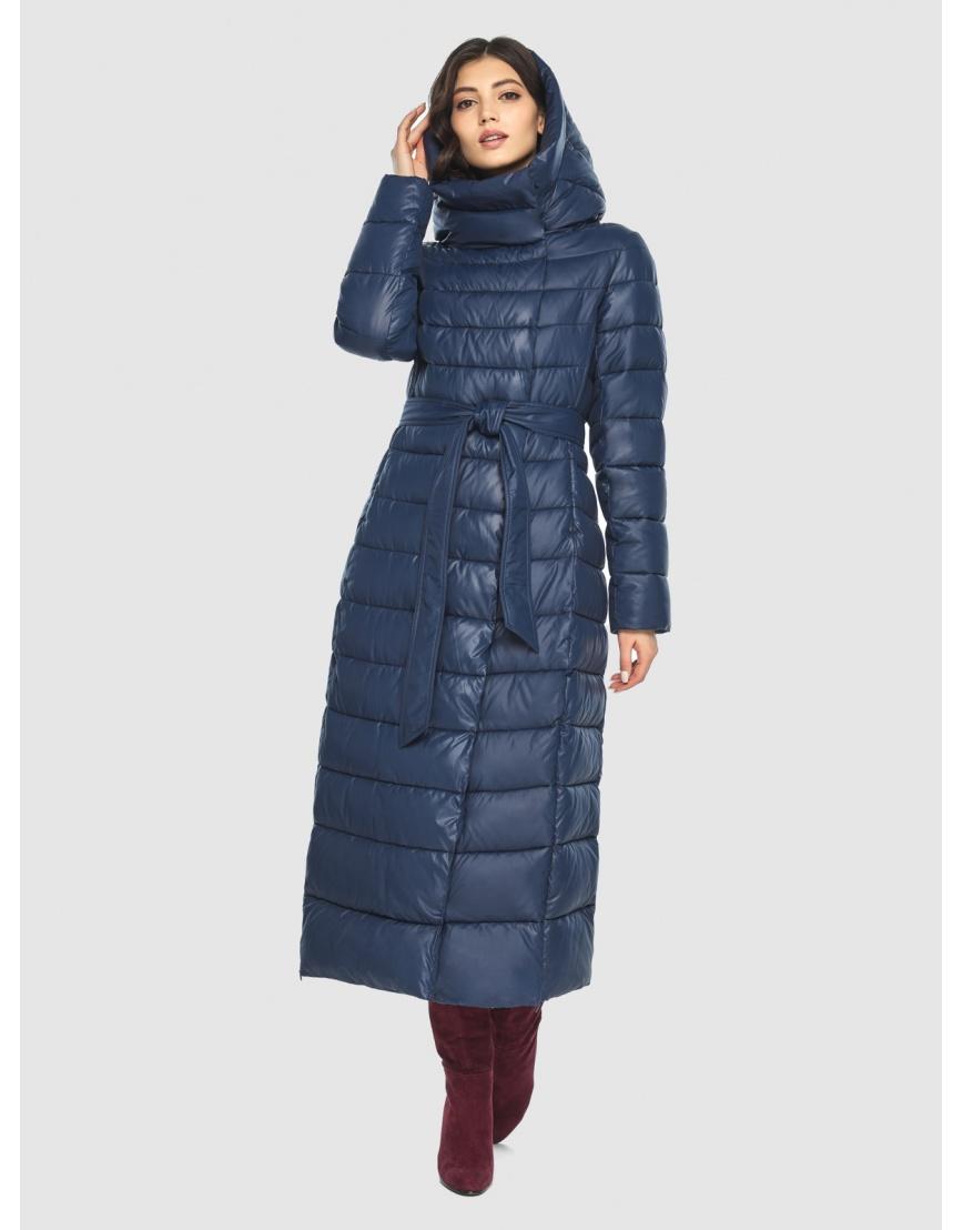 Синяя длинная курточка женская Vivacana 8320/21 фото 3