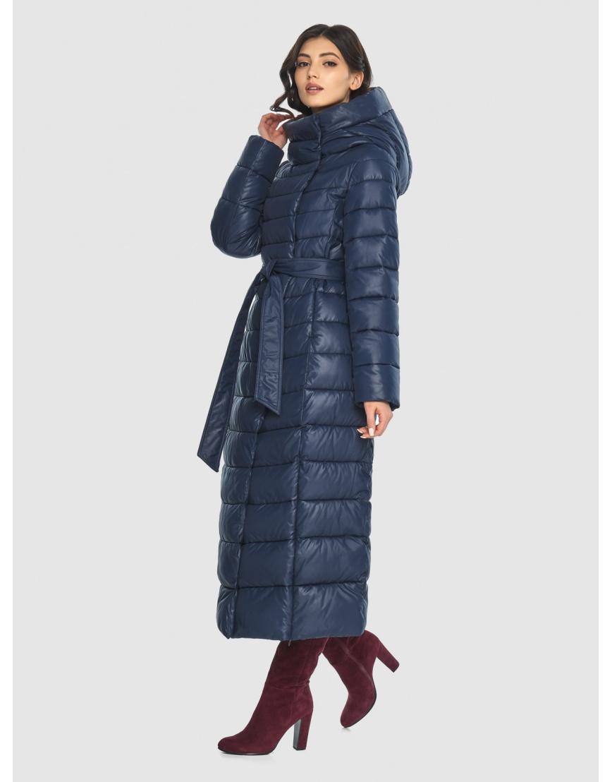 Синяя длинная курточка женская Vivacana 8320/21 фото 1