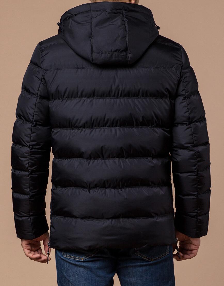Черная куртка с капюшоном комфортная модель 20180 фото 3