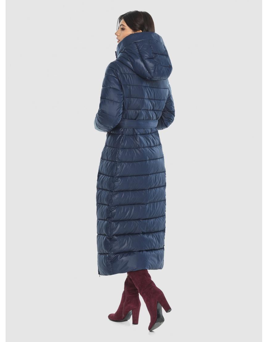 Синяя длинная курточка женская Vivacana 8320/21 фото 4