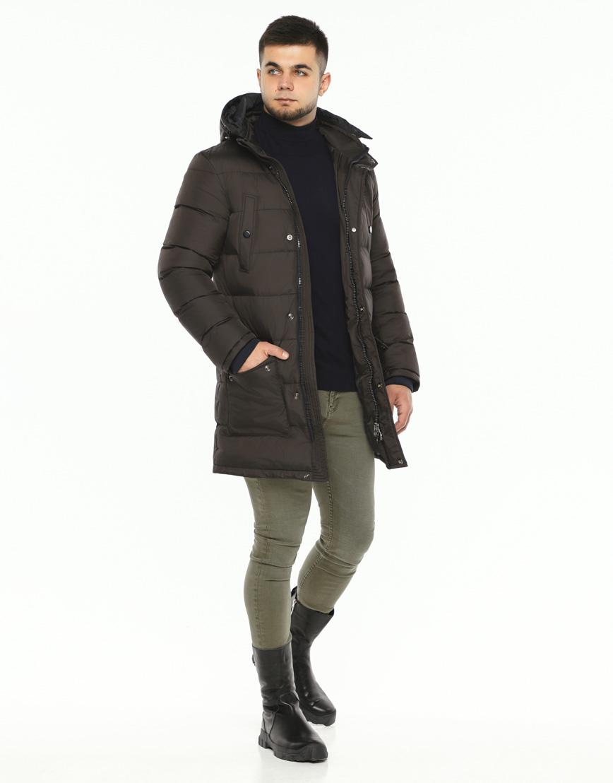 Практичная теплая куртка цвет кофе модель 32045 фото 1