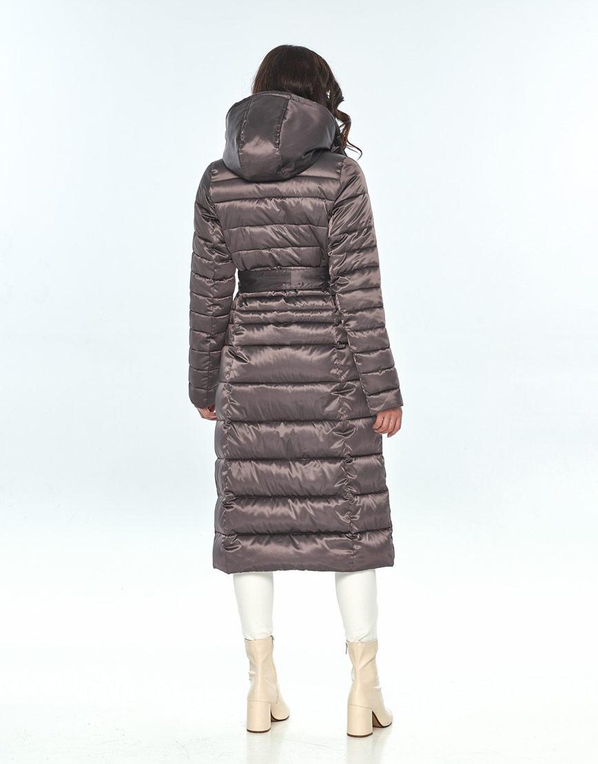 Зимняя капучиновая куртка женская Vivacana длинная 8140/21 фото 3