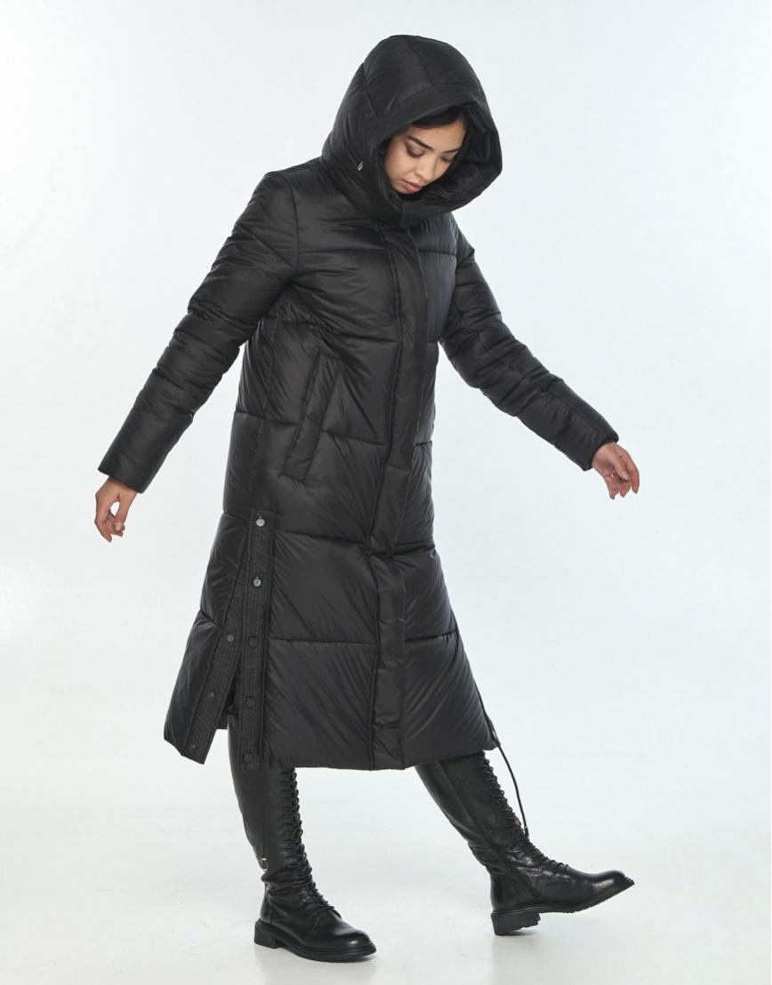Зимняя чёрная куртка Moc комфортная женская M6874 фото 2