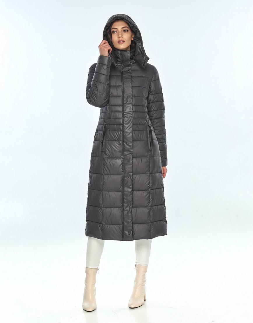 Серая зимняя куртка Vivacana женская модная 8140/21 фото 1