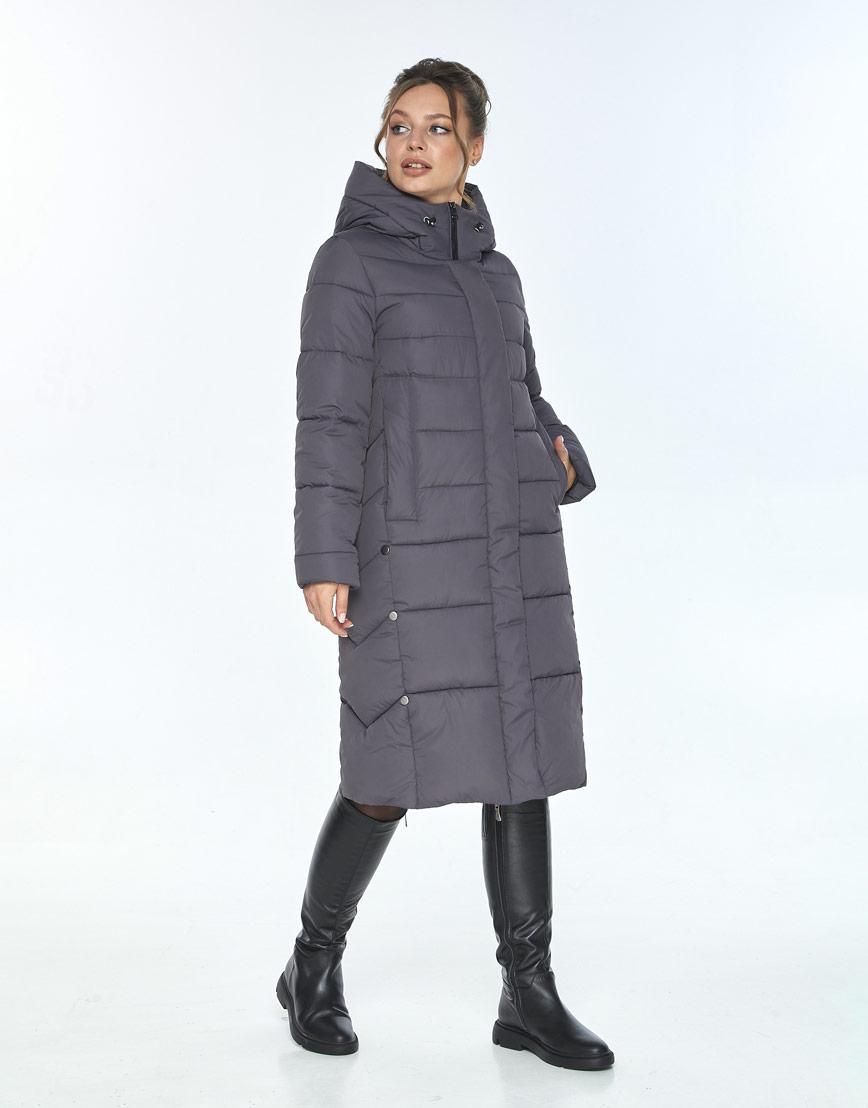 Трендовая куртка женская Ajento серая 22975 фото 2