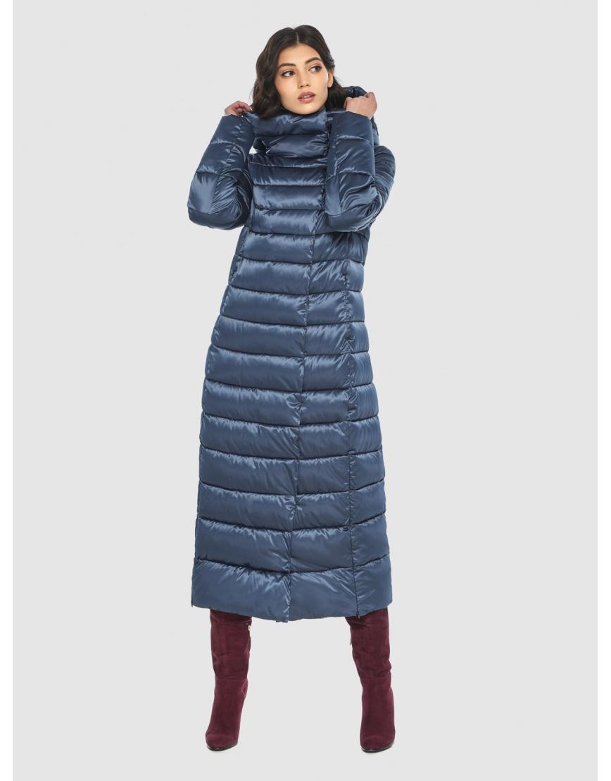 Куртка синяя тёплая женская Vivacana 8320/21 фото 5