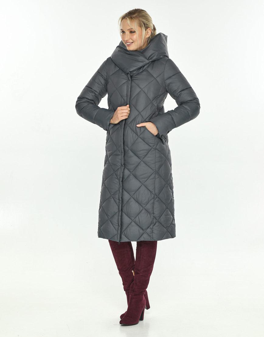 Брендовая серая куртка Kiro Tokao женская 60074 фото 1