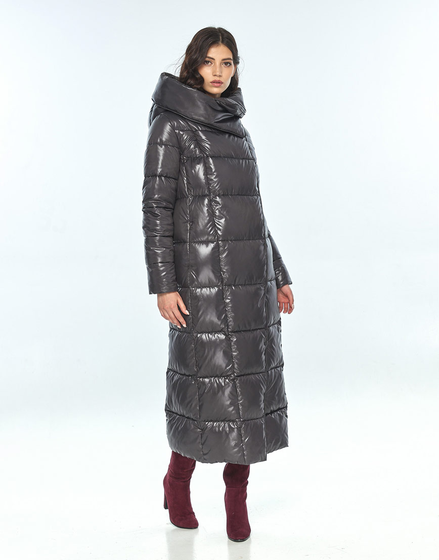 Серая женская удобная куртка большого размера Vivacana 8706/21 фото 2