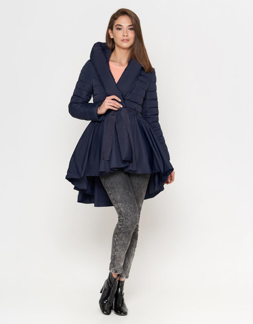 Оригинальная женская куртка синего цвета модель 25755 фото 1