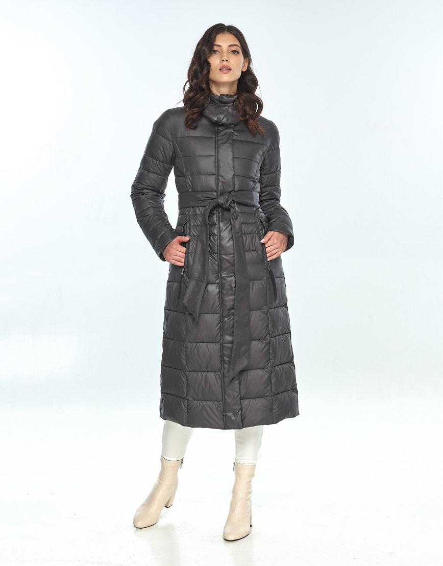 Серая зимняя куртка Vivacana женская модная 8140/21 фото 2