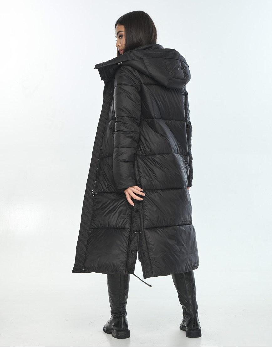 Зимняя чёрная куртка Moc комфортная женская M6874 фото 3