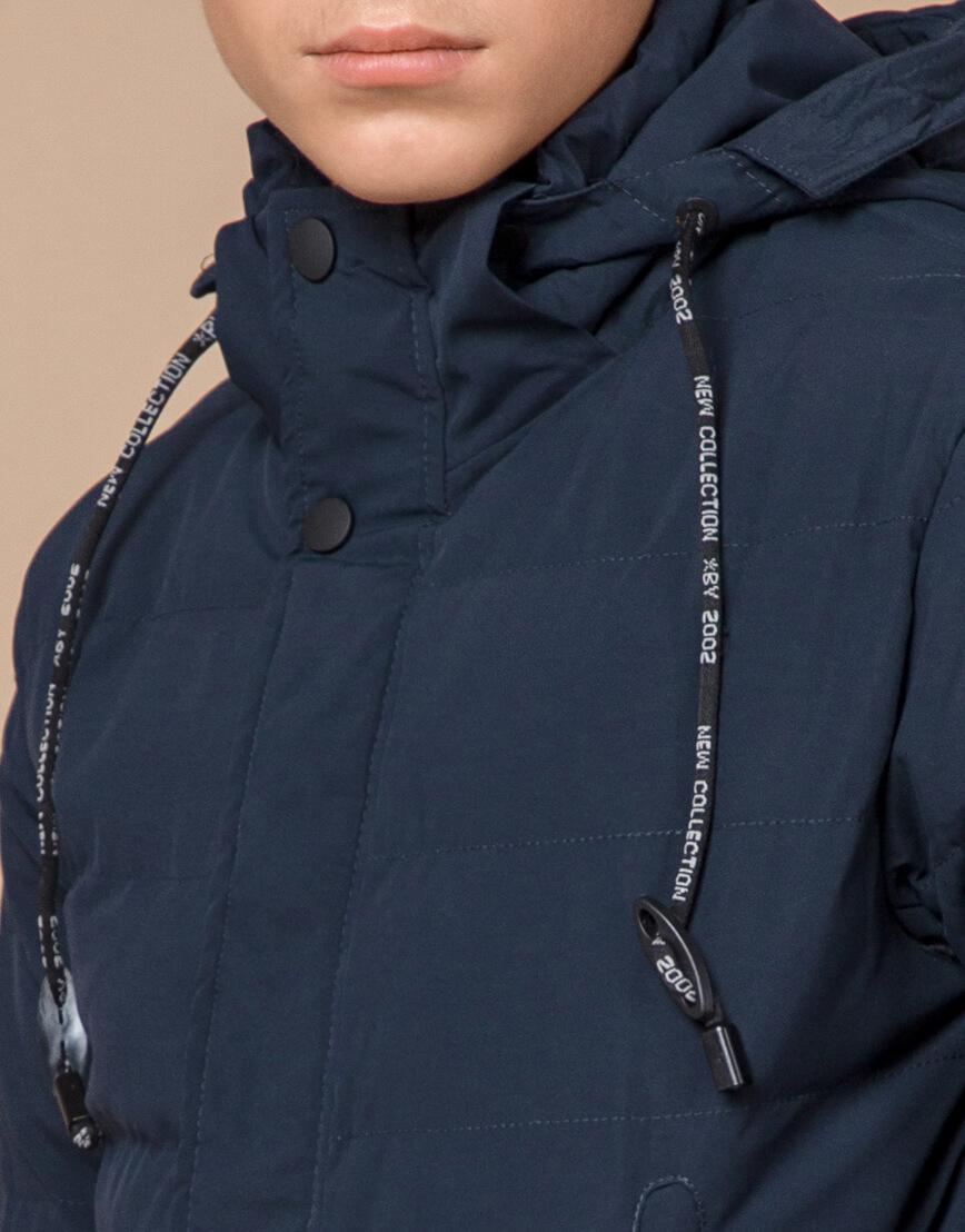 Оригинальная куртка зимняя темно-синяя модель 25200